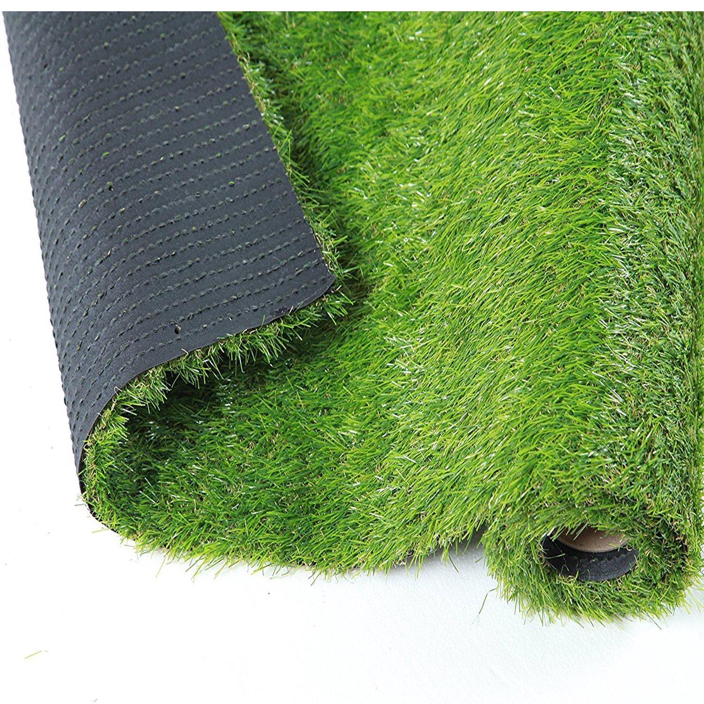 Outdoor Artificial Turf Brown Tan Synthetic Grass Carpet