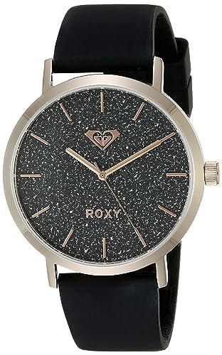 para Mujer Roxy The Royal Reloj Infantil de Cuarzo con Esfera Azul y Blanco Correa de Silicona RX/1008bkrg: Amazon.es: Relojes