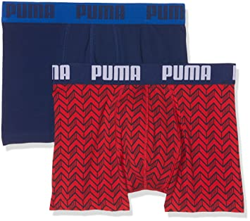 Puma Basic Graphic Print 2P Ropa Interior, Hombre, Red/Blue, S