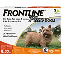 Frontline Plus for Dogs 022 lbs Orange, 3 Month