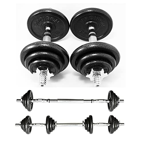 York 30kg Dumbbell Set: York Fitness Cast Iron Dumbbell Spinlock Set (Pack Of 2