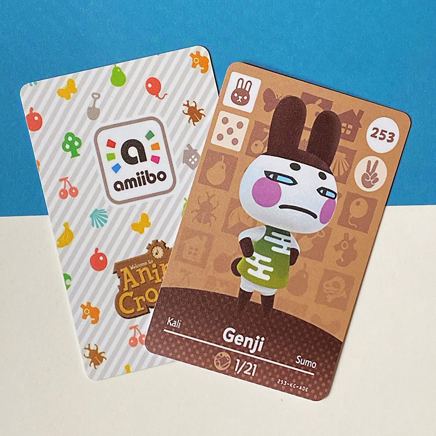 BestTom No.253 Genji ACNH Animal Villager Card Fan Made.Third Party NFC Card Bank Card Size Water Resistant for Switch/Switch Lite/Wii U