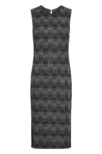 next Donna Abito In Jacquard A Quadri - Tall Nero / Grigio EU 44 Tall (UK 16T)