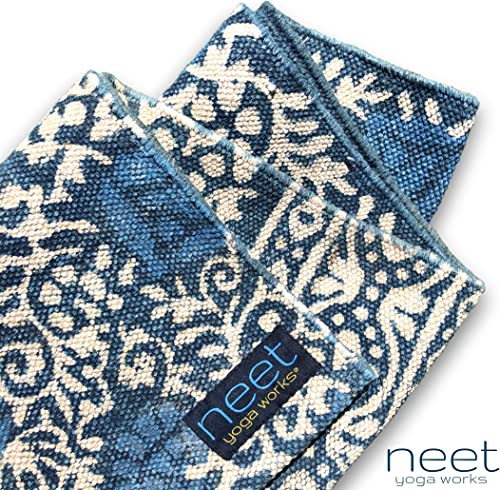 Neet Yoga Works - Washable Cotton Yoga Mat - Natural and Non-Toxic