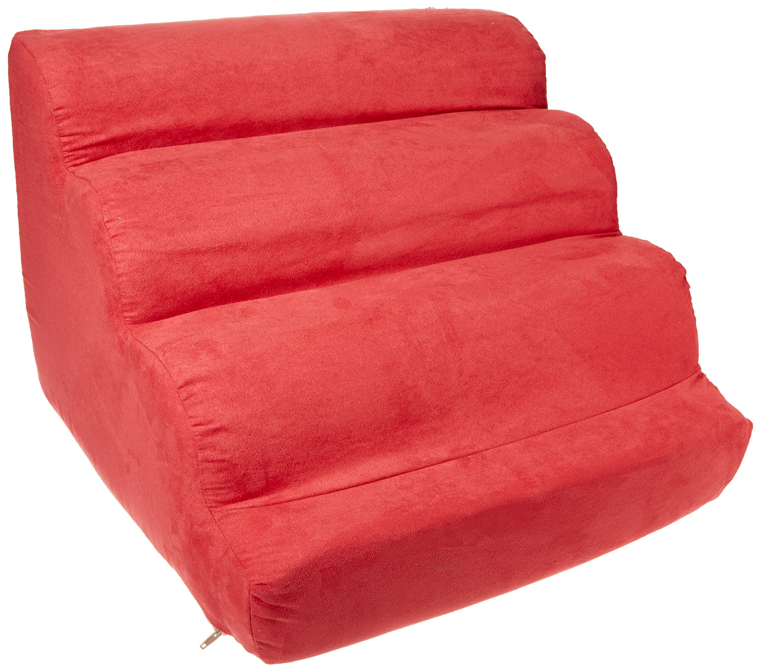 Snoozer Scalloped Pet Ramp, Small, Red