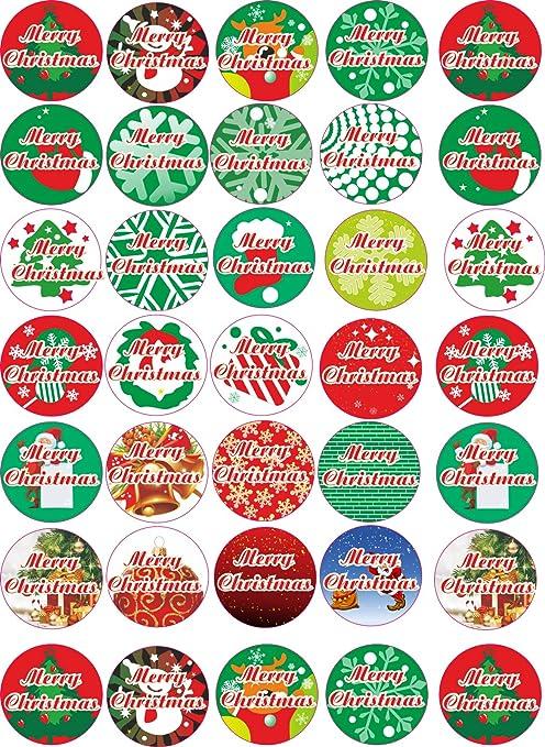 Christmas Stickers.Amazon Com Indigos Ug Merry Christmas Sticker For Gift