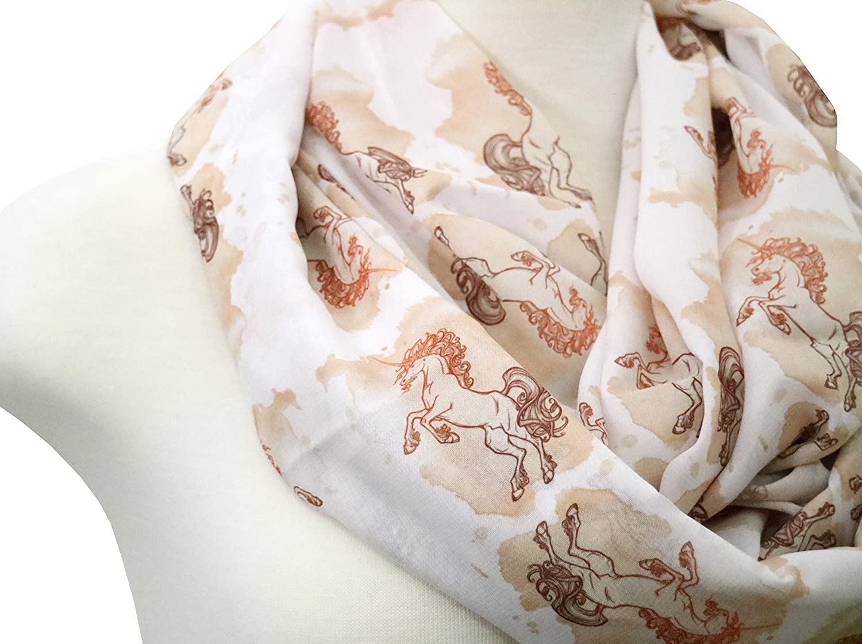 Handmade Unicorn Scarf Gift idea for her, birthday gift. Horse scarf infinity scarf