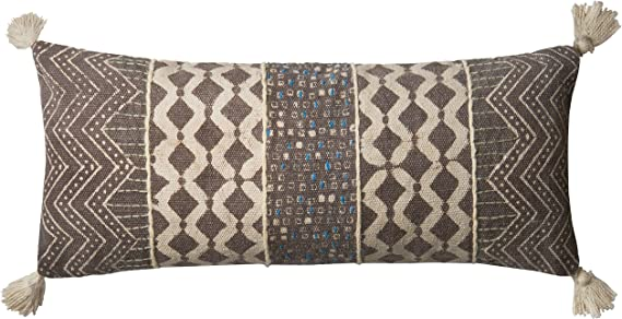 Grey Loloi P0599 Pillow Cover Only//No Fill 13 x 21