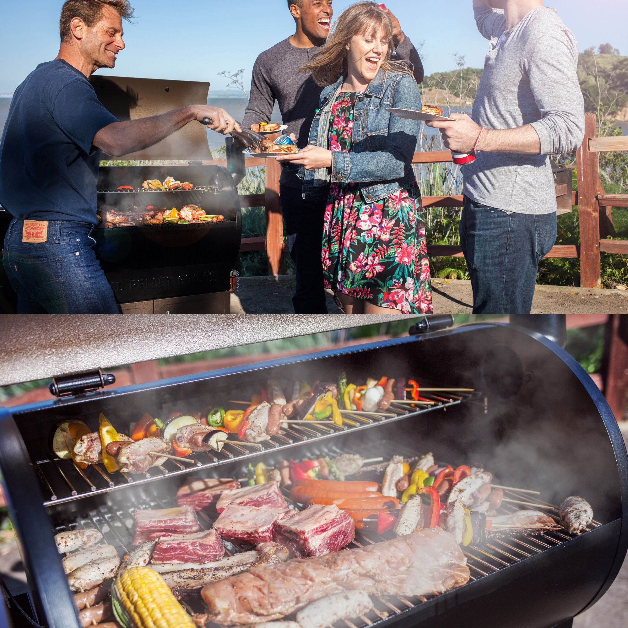 Z GRILLS ZPG-550B 2019 Upgrade Model Wood Pellet Grill & Smoker 6 in 1 BBQ Grill Auto Temperature Control, 550 sq Inch Deal, Black by Z GRILLS (Image #6)