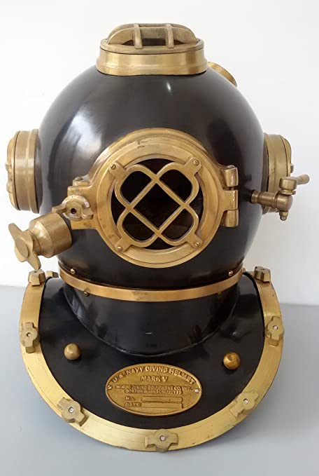 Antique Style Maritime Deep Sea Marine Us Navy Mark V Divers Diving Helmet Antiques