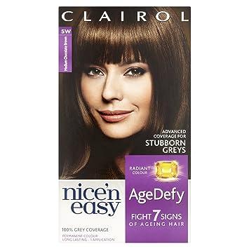 Clairol Age Defy Permanent Hair Dye 5w Medium Chocolate Brown