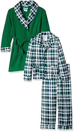 0042399a4 Amazon.com  Bunz Kidz Boys  Toddler Boys  Classic Plaid Robe and 2pc ...