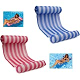 LEZHI 2-pack(Pink,blue) Premium Swimming Pool Float Hammock, Comfortable Inflatable Swimming Pools Lounger, Water Hammock Lounge