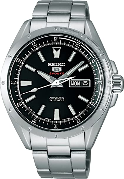 Review Seiko Mechanical Self-Winding (with manual winding) 5Sports SARZ005 Men's Watch Japan import