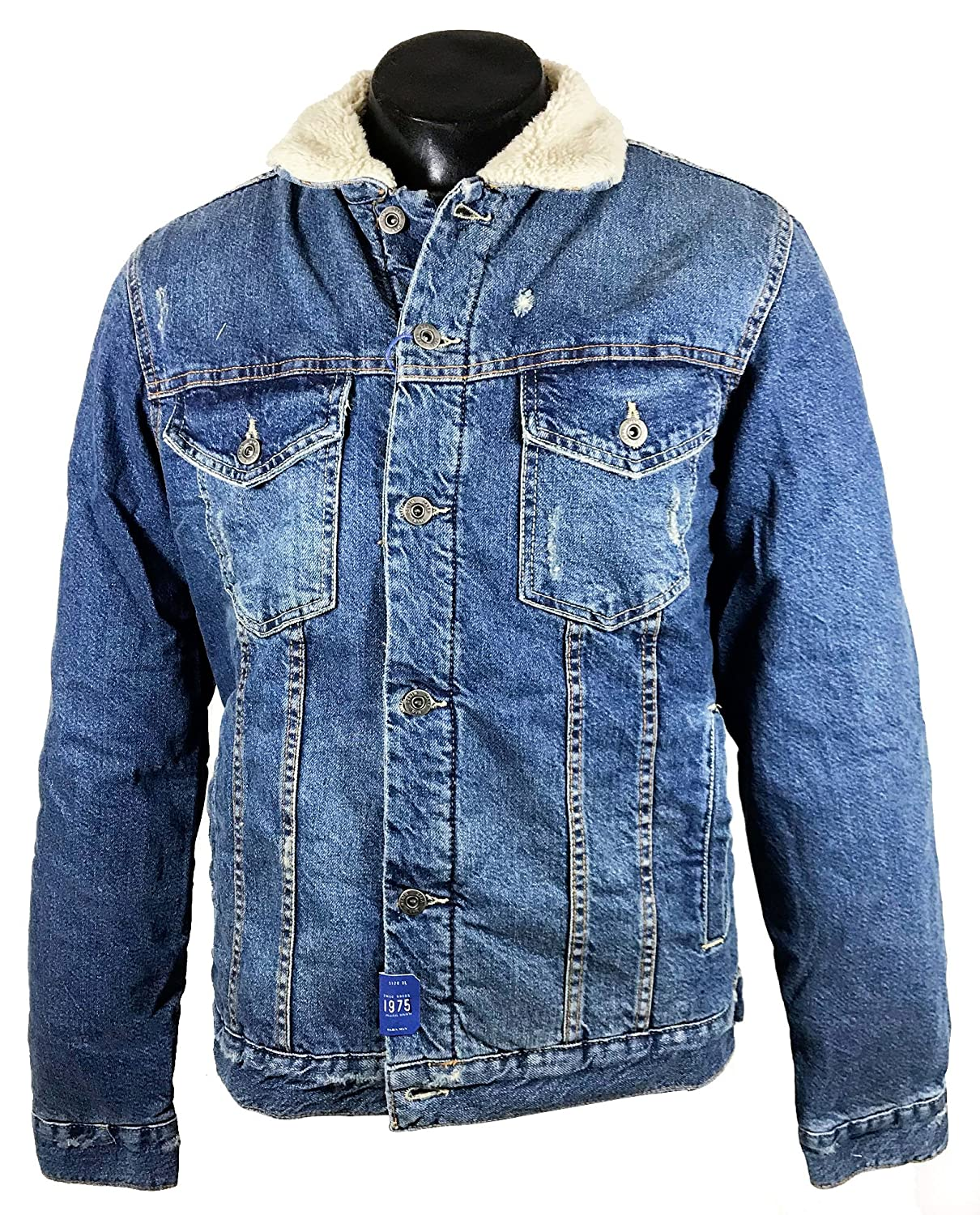 Zara Men Denim and Sheepskin Jacket 5575/390 at Amazon Mens ...