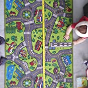 Amazon Com Kids Carpet Playmat Rug City Life Great For