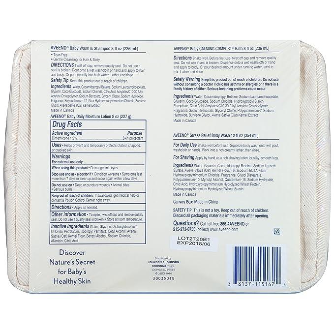 Amazon.com: Set de regalo para prevenir la piel seca Aveeno ...