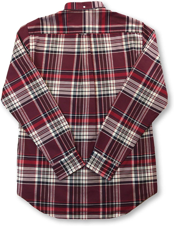 Gant - Camisa de cuadros Oxford cepillada, ajuste regular, color vino: Amazon.es: Ropa y accesorios