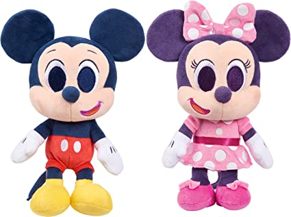 Disney Junior Music Lullabies Juego De 2 Piezas De Peluche De Mickey Mouse Y Minnie Mouse De 2 Piezas Exclusivo De Amazon Toys Games
