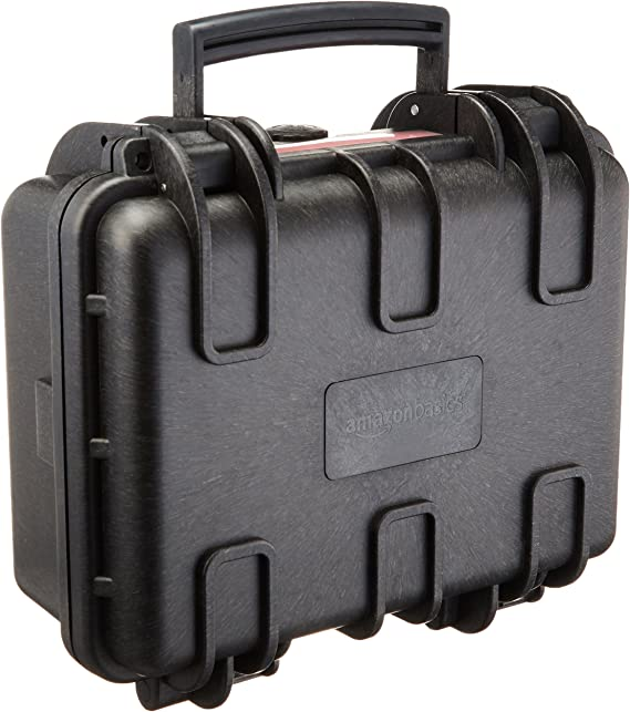 AmazonBasics Small Hard Camera Carrying Case - 12 x 11 x 6 Inches