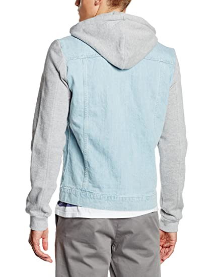 Urban Classics Herren Jacke Hooded Denim Fleece Jacket  Amazon.de   Bekleidung a5a51d4a51