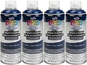 TULIP Bulk Buy ColorShot Outdoor Upholstery Spray Paint 8 oz, Navy, 4-Pack, 12 Oz
