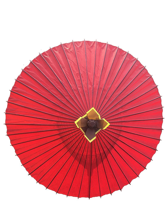 山本竹細工屋 (YAMAMOTOTAKIZAYIKUYA ) 和傘 番傘 蛇の目傘 雨傘 (赤色) B077ZTT44Z赤色