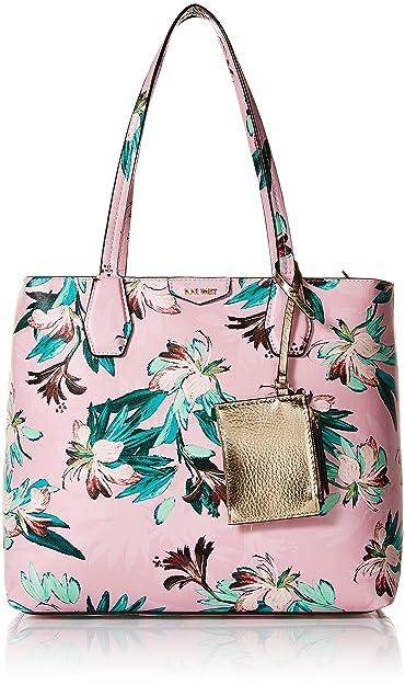 b5219bb169f Amazon.com  Nine West Caden Pink Floral Tote Bag