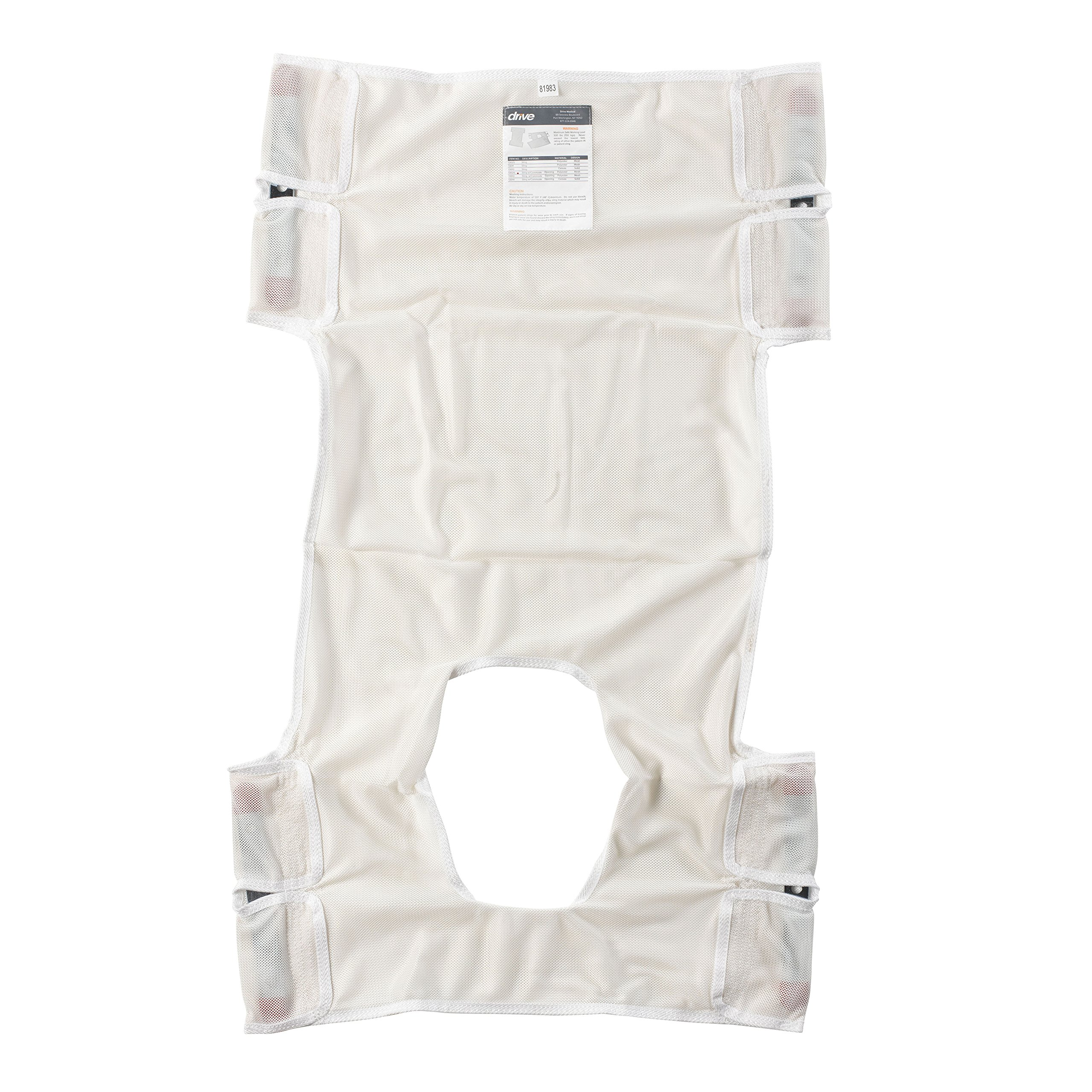 Drive Medical Patient Lift Sling, Polyester Mesh with Commode Cutout by Drive Medical