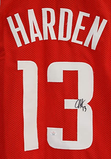 f5ca71faf ... canada james harden houston rockets signed autographed red 13 custom  jersey paas coa 5a2ef f79d6