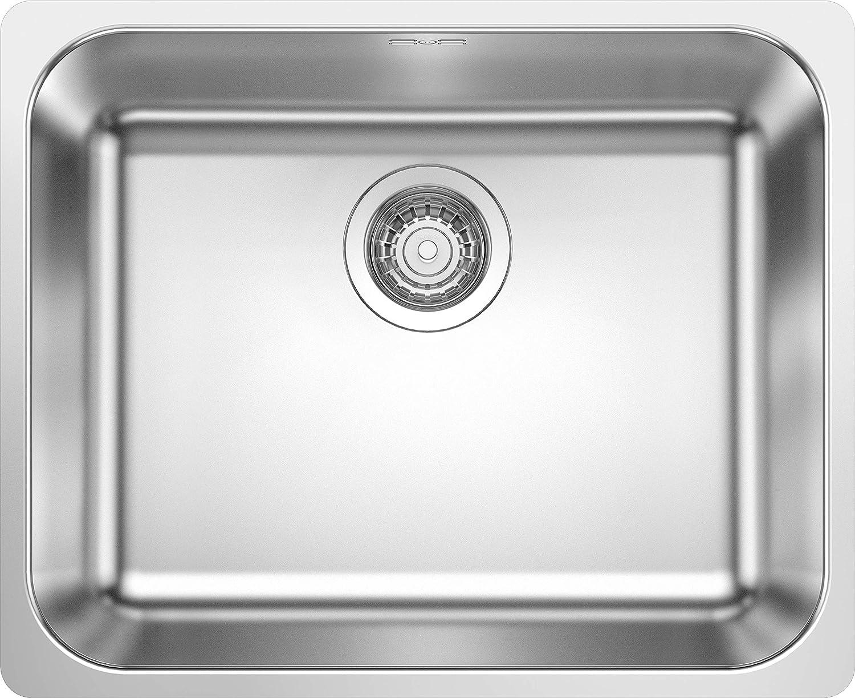 Blanco 523361 Supra 500-IF /Évier de cuisine en acier inoxydable Finition bross/ée Largeur 500 mm