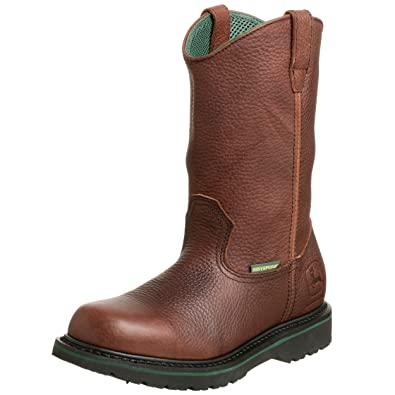 John Deere Men's Waterproof ... Wellington Work Boots