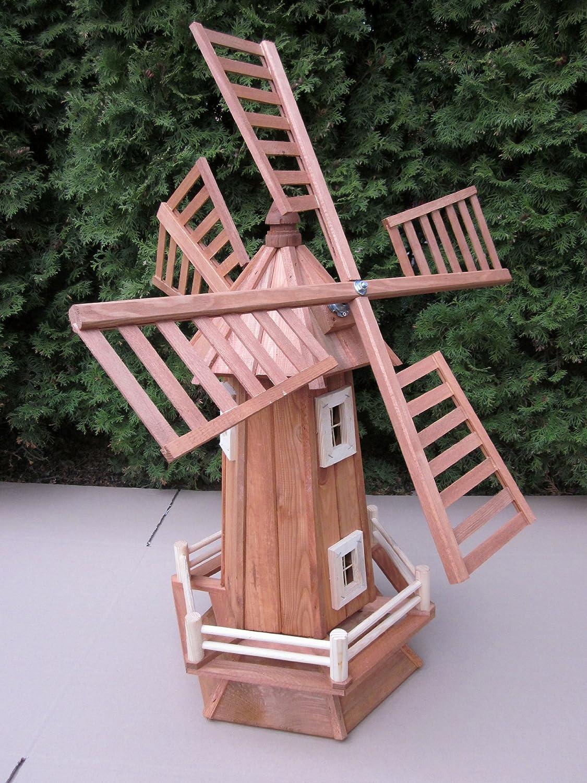 Molino de viento de madera para jardín kugelgelagert 110 cm Grande: Amazon.es: Jardín