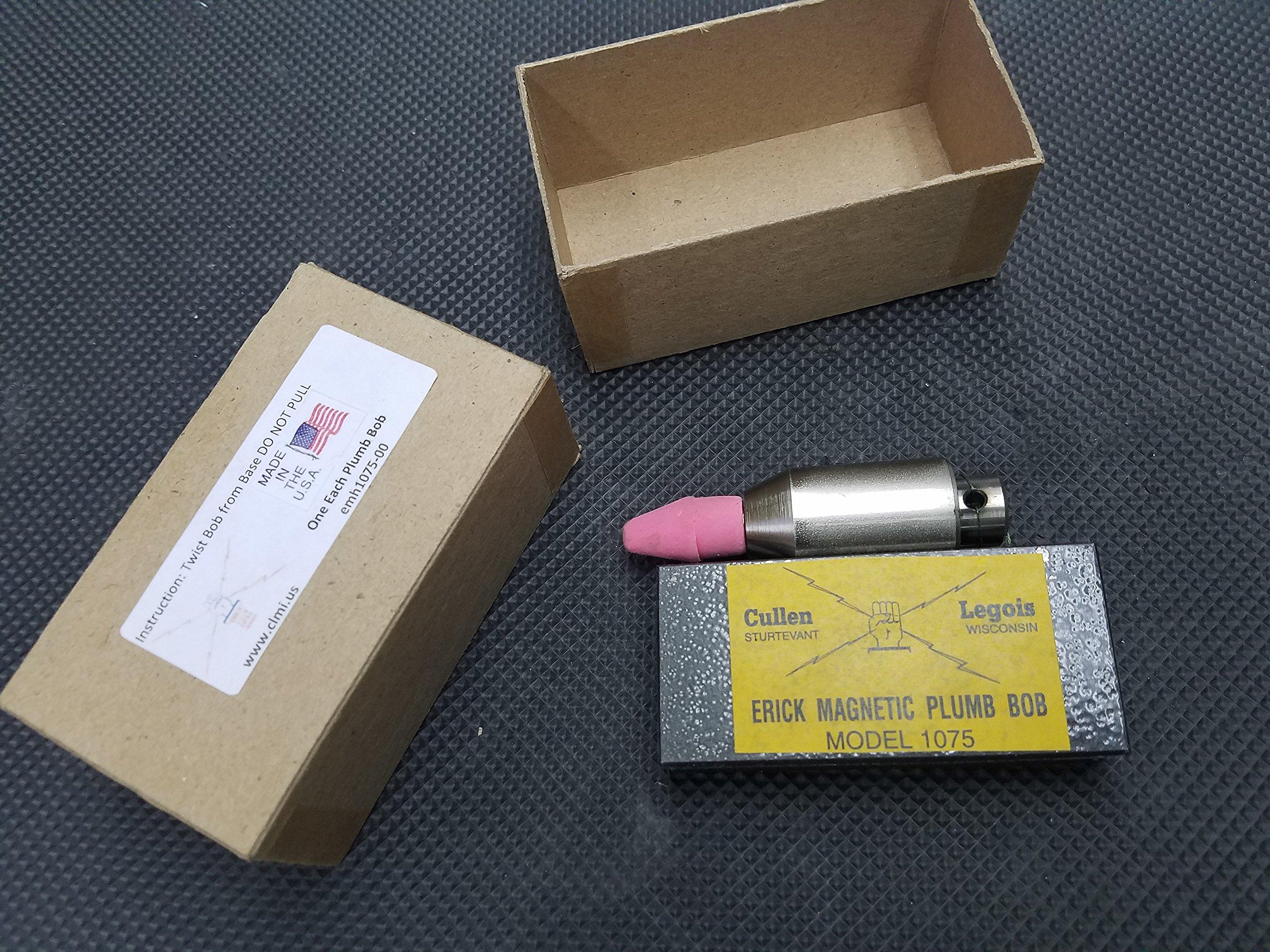 Plumbers magnetic plumb bob setter