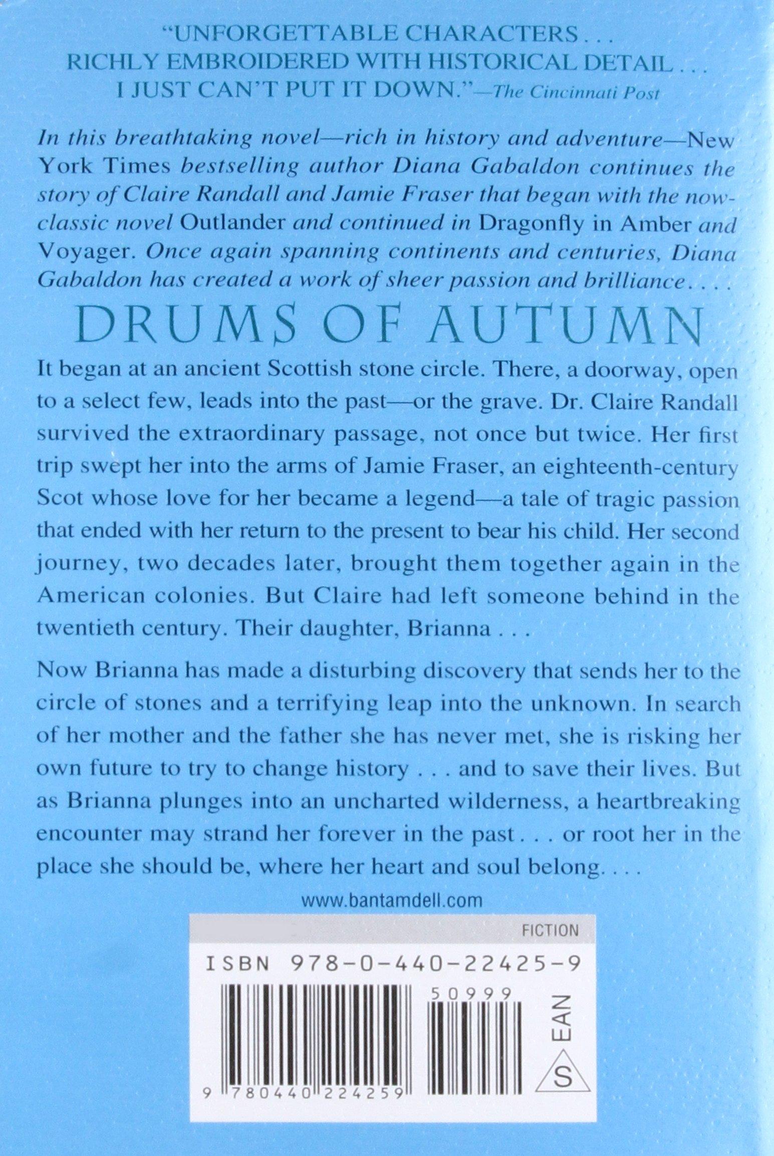 The drums of autumn diana gabaldon 9780440224259 amazon books fandeluxe Gallery