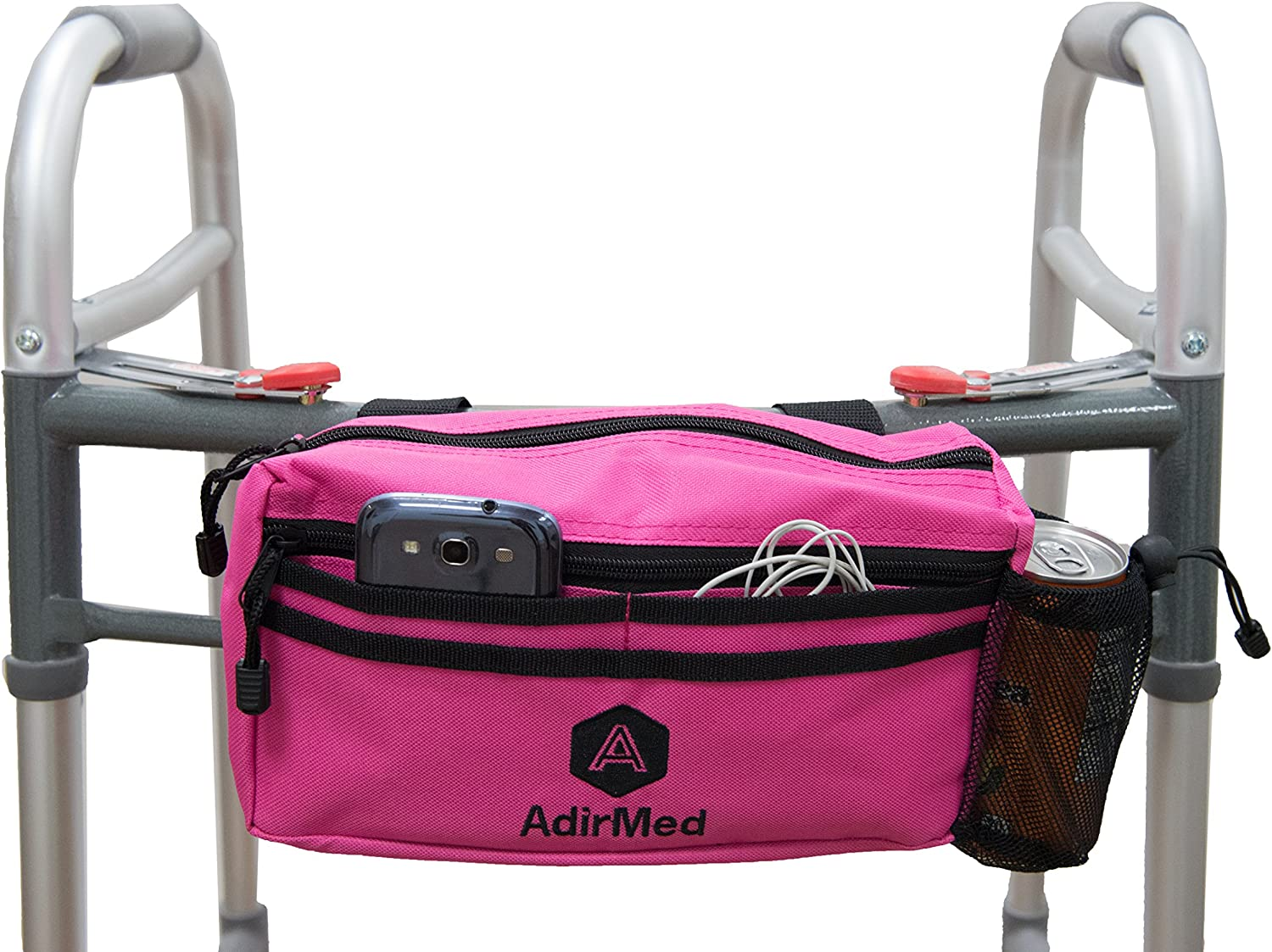 AdirMed Wheelchair Pouch - Rollator Pouch - Walker Pouch - Red: Health & Personal Care