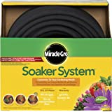 "Swan Products MGSPAK38100CC Miracle-GRO Soaker System Customizable Hose with Push on Fittings, 100' x 3/8"", Black"