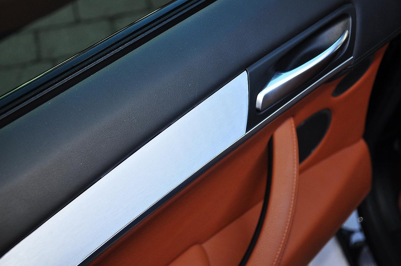 Dekorleisten Interieurleisten BMW E39 Carbon 3D Struktur Folien Set SILBER