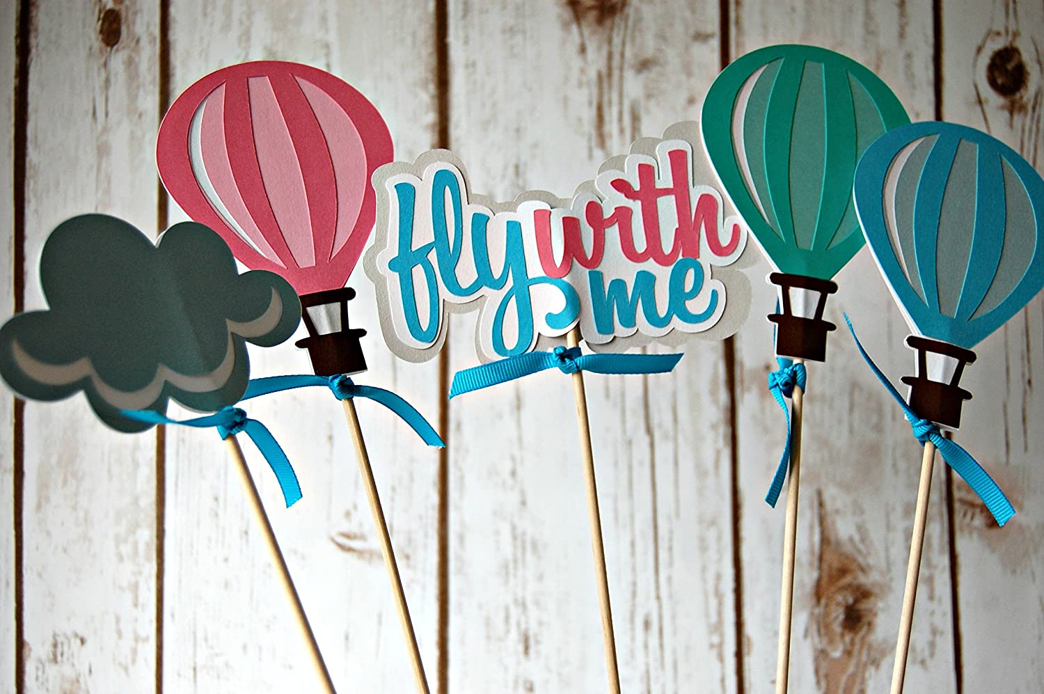 Hot Air Balloons Birthday Party Centerpiece Set