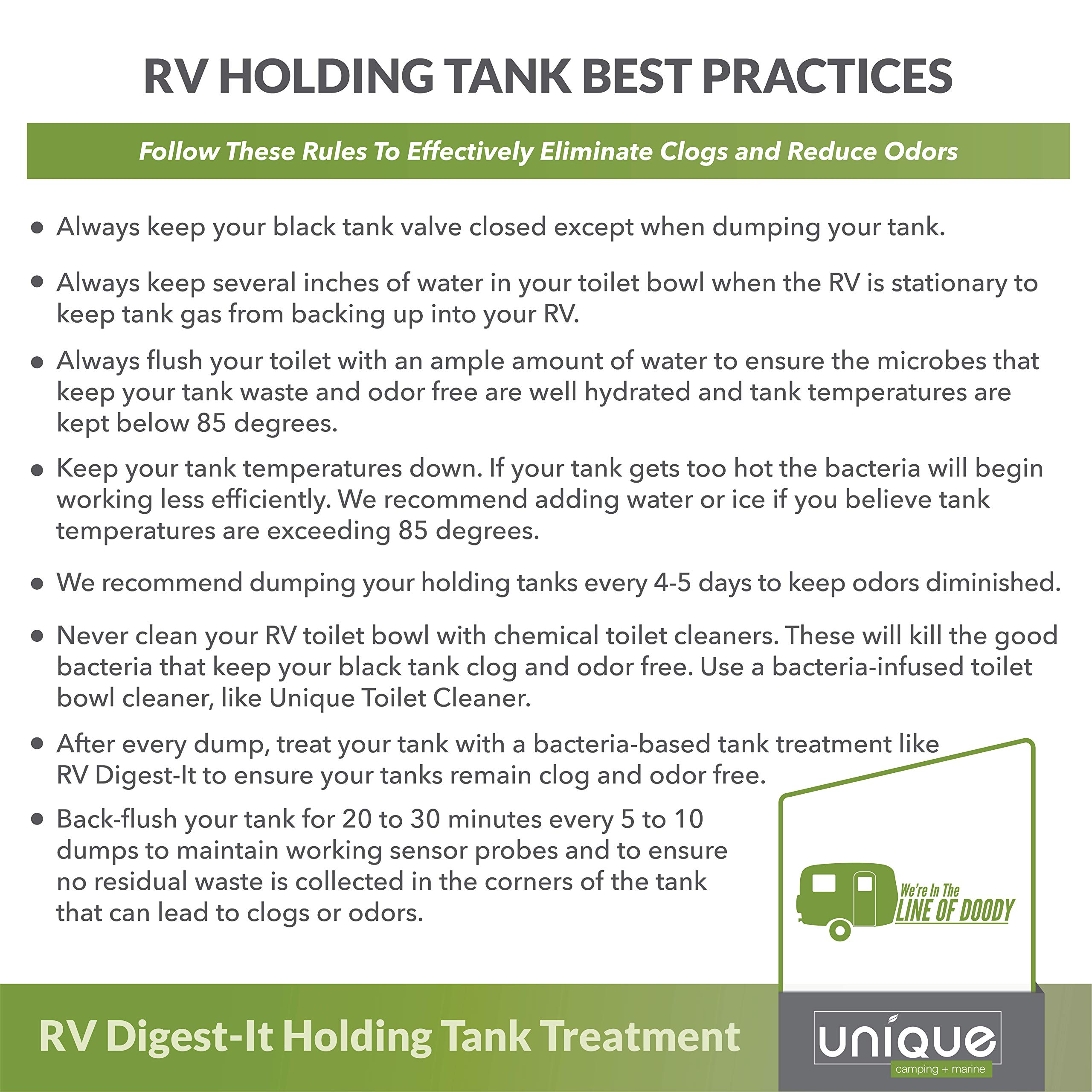 Unique RV Digest-IT Holding Tank Treatment – case of 4 one Gallon jugs by Unique Camping & Marine (Image #4)
