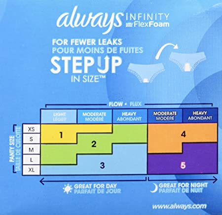 Amazon.com : Always Infinity Sanitary Pads - Regular, 18 count : Sanitary Napkins : Grocery & Gourmet Food