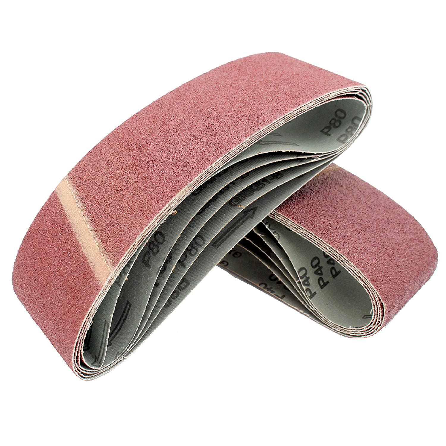 10 x Sanding Belts 120 Grit 75 x 533 mm