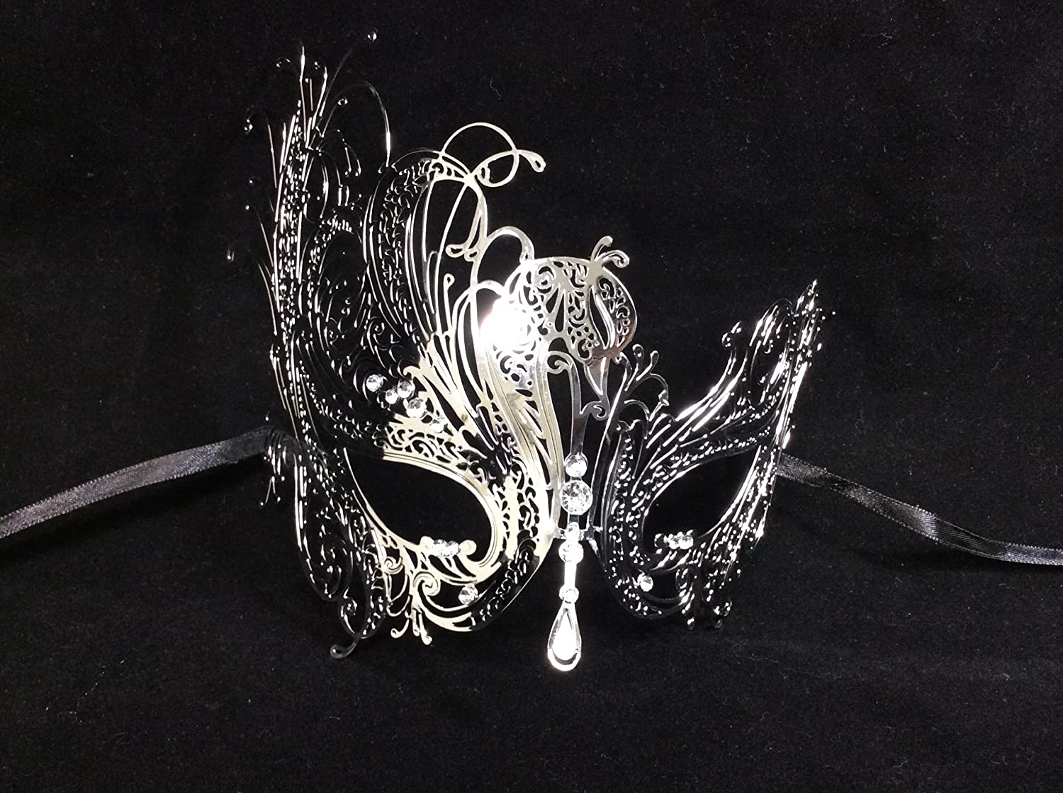 Perfect Couple Mardi Gras Long Swan Party Halloween Ball Prom by Unknown 2 Piece Silver Colored Set His /& Hers Masquerade Couples Venetian Design Masks