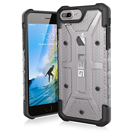 sports shoes 3a29b a764c Urban Armor Gear UAG Plasma Rugged Protection Case / Cover Designed for  iPhone 8 Plus / 7 Plus / 6S Plus / 6 Plus (Military Drop Tested) - Ice