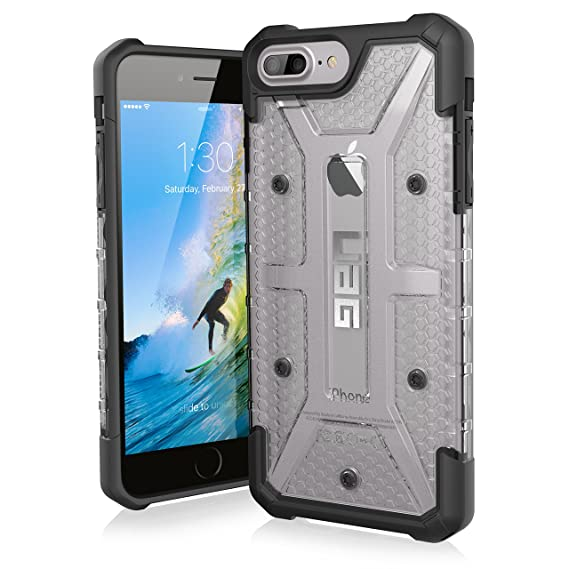 brand new 29e7e 23143 URBAN ARMOR GEAR UAG iPhone 8 Plus/iPhone 7 Plus/iPhone 6s Plus [5.5-inch  screen] Plasma Feather-Light Rugged [Ice] Military Drop Tested iPhone Case