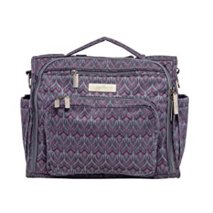 JuJuBe BFF Diaper Backpack, Multi-Functional Convertible + Messenger Bag   Travel-Friendly, Stylish Diaper Bag  Amethyst Ice