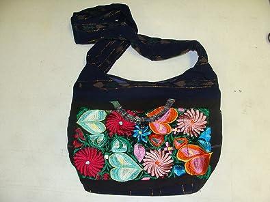 Amazon Com Guatemala Hand Bag Tote Hobo Hand Embroidered Huipil