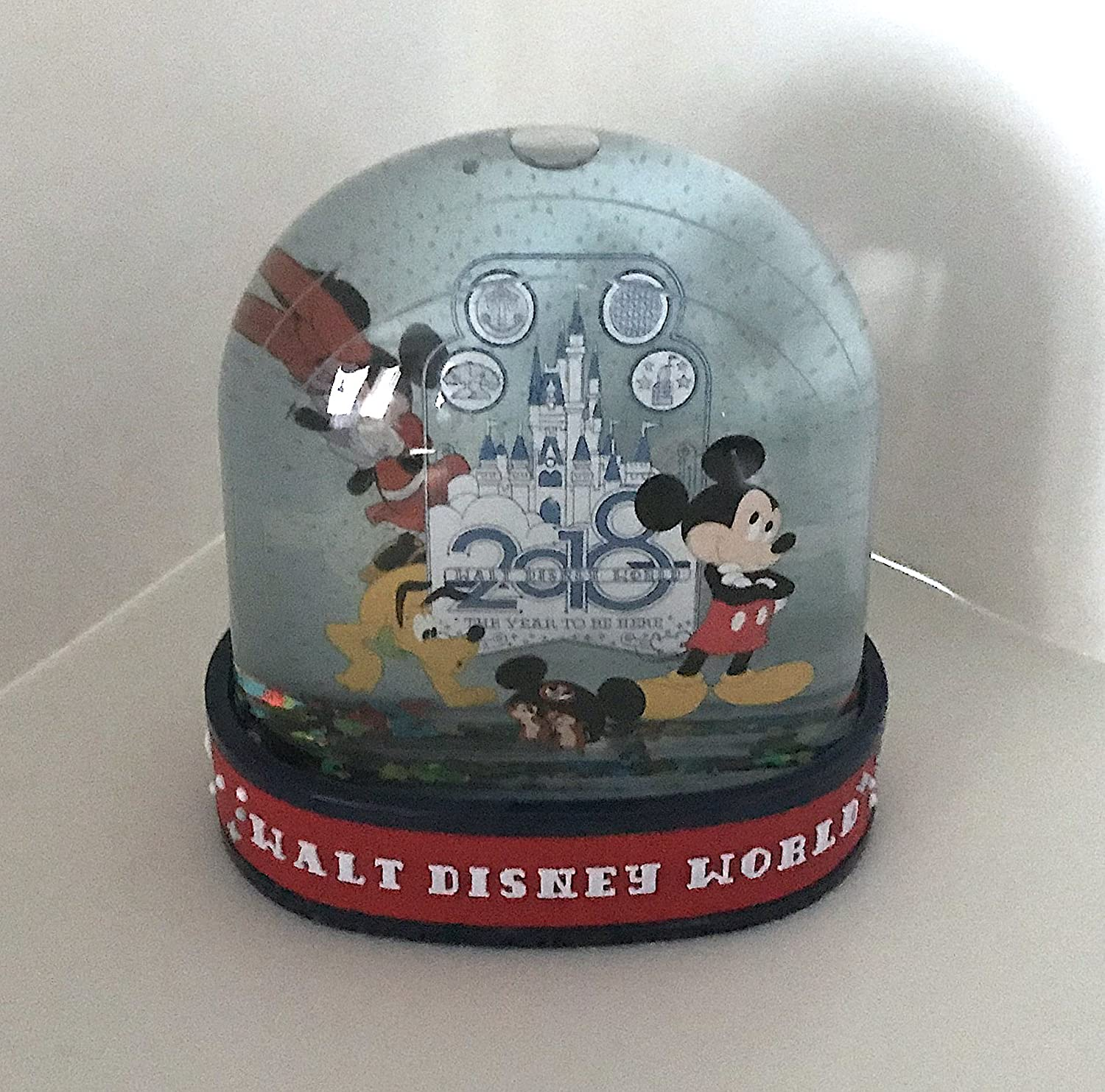 Walt Disney World 2018 Mickey Minnie Mouse The Year to Be Here Plastic Snowglobe DisneyParks
