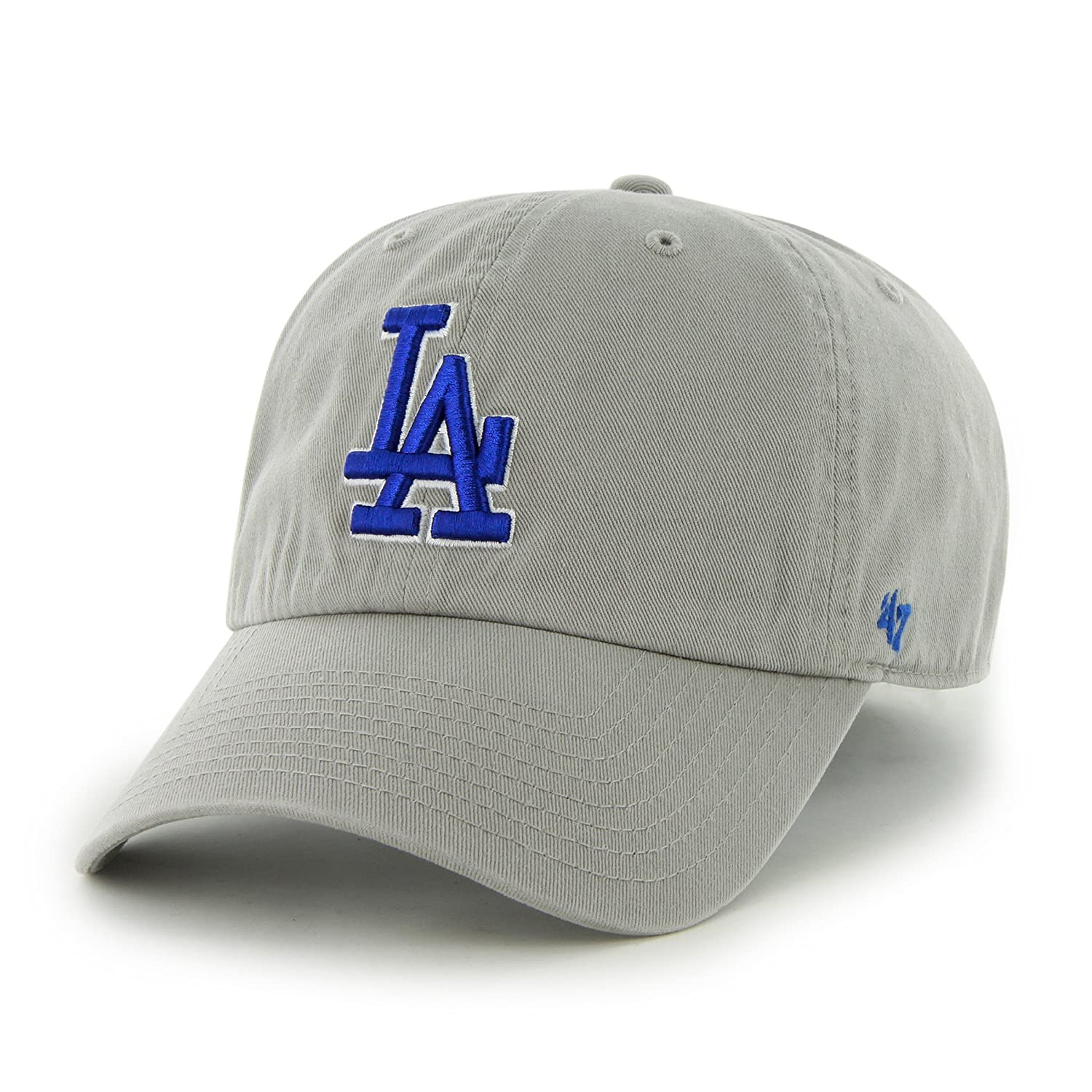 8c4cba804 Amazon.com : MLB Los Angeles Dodgers '47 Brand Clean Up Adjustable Cap, One  Size, Gray : Sports & Outdoors