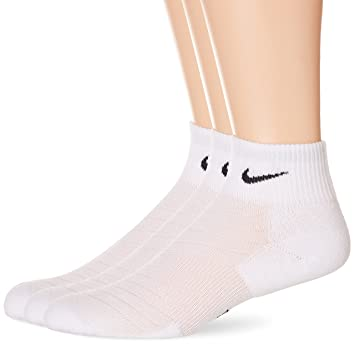 Nike DRI-FIT Quarter (3 Pares) Calcetines, Hombre, Negro/Blanco, 46-50: Amazon.es: Zapatos y complementos